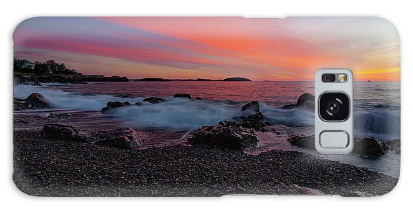 Dawn At Castle Rock On Marblehead Neck Galaxy Case