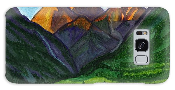 Sunrise In The Mountains Galaxy Case