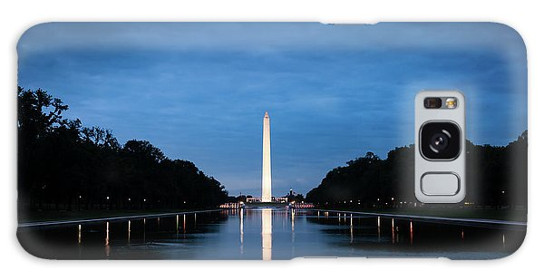 Dawn Reflections Of The Washington Monument Galaxy Case