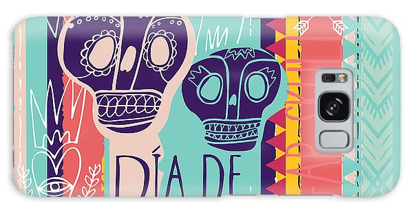 Death Galaxy Case - Day Of The Dead Colorful Card. Skull by Totokumi