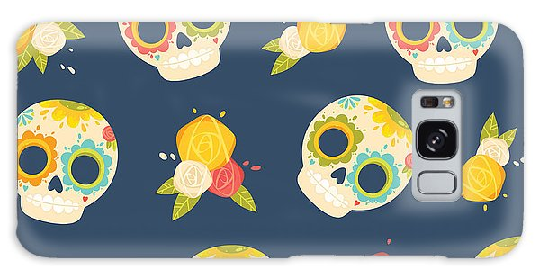 Death Galaxy Case - Day Of The Dead Colorful Vector by Orangemilk
