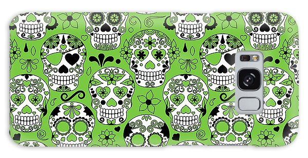Mexican Galaxy S8 Case - Day Of The Dead Sugar Skull Seamless by Pinkpueblo