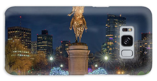 December Evening In Boston's Public Garden Galaxy Case