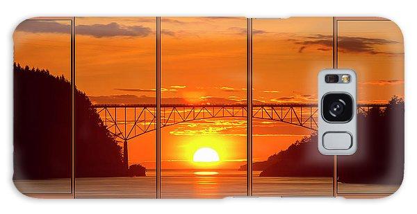 Deception Pass Sunset Panels Galaxy Case