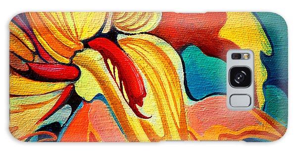 Horizontal Galaxy Case - Decorative Flower Painting By Oil On by Mikhail Zahranichny