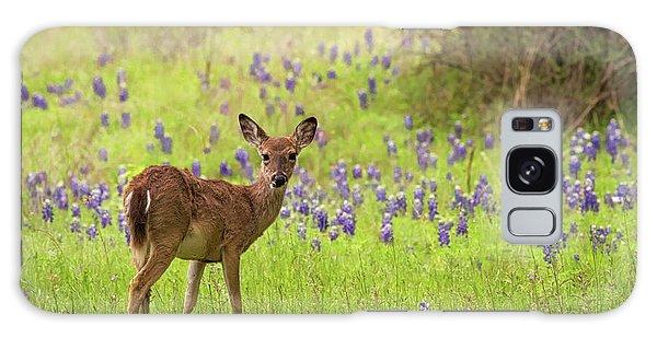 Deer In The Bluebonnets Galaxy Case