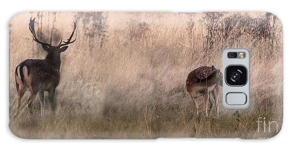 Deer In The Grasses Galaxy Case