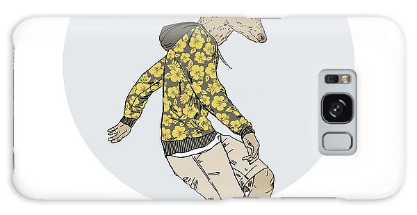 Furry Galaxy S8 Case - Deer Man On Skateboard, Furry Art by Olga angelloz