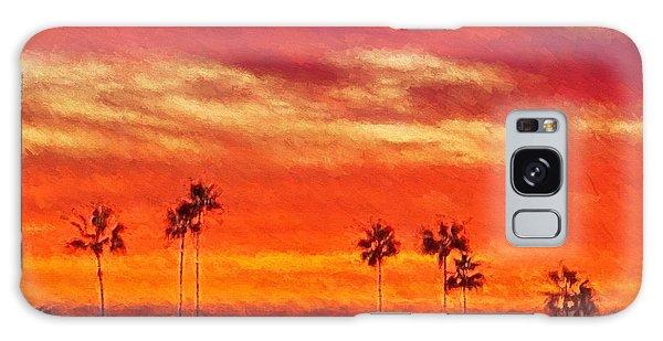 Del Mar Sunset Galaxy Case