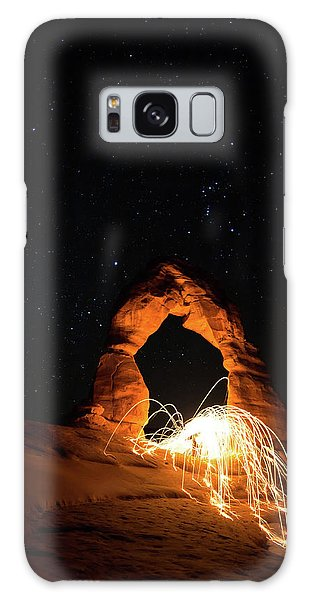 Galaxy Case featuring the photograph Delicate Arch Steel Wool by Nathan Bush