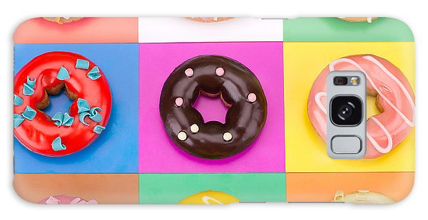 Tasty Galaxy Case - Delicious Donuts Isolated On Colorful by Em Arts