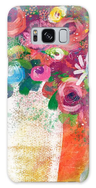 Galaxy Case featuring the mixed media Delightful Bouquet 2- Art By Linda Woods by Linda Woods