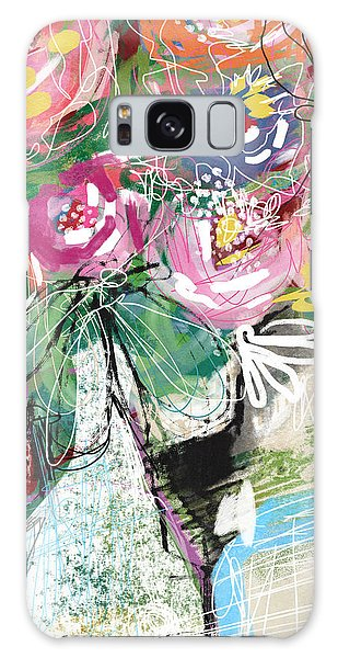 Galaxy Case featuring the mixed media Delightful Bouquet 3- Art By Linda Woods by Linda Woods