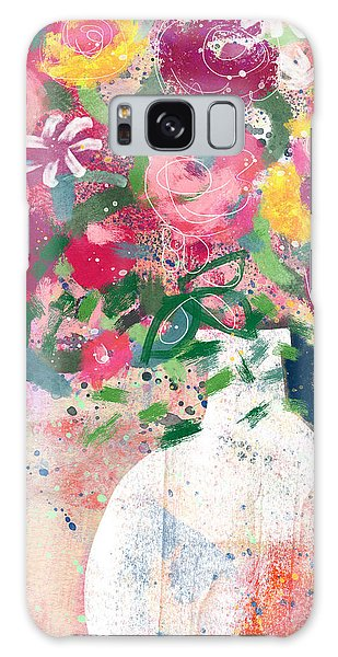 Galaxy Case featuring the mixed media Delightful Bouquet- Art By Linda Woods by Linda Woods