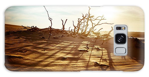 Desert Flora Galaxy Case - Desert Landscape With Dead Plants In by Perfect Lazybones