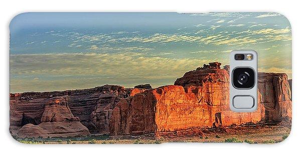 Desert Sunrise In Color Galaxy Case