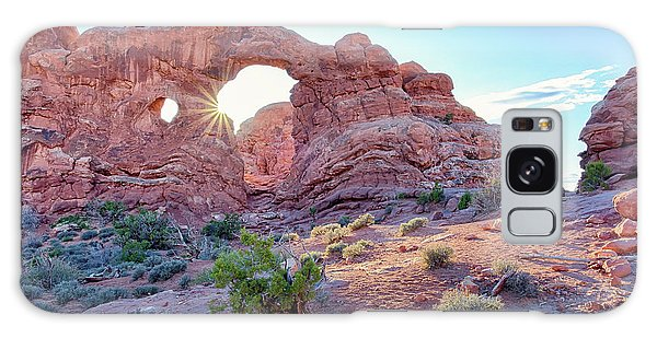 Galaxy Case featuring the photograph Desert Sunset Arches National Park by Nathan Bush