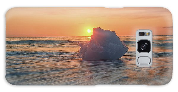 Galaxy Case featuring the photograph Diamond Beach Sunrise Iceland by Nathan Bush