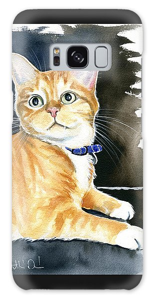 Diego Ginger Tabby Cat Painting Galaxy Case