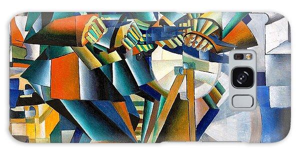 Russian Impressionism Galaxy Case - Digital Remastered Edition - The Knifegrinder by Kazimir Severinovich Malevich