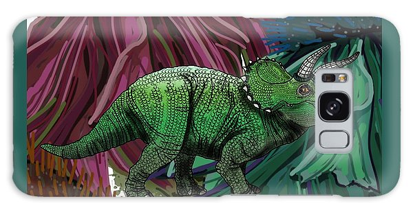 Dinosaur Triceratops Flowers Galaxy Case