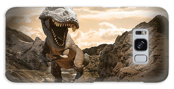 Powerful Galaxy Case - Dinosaurs Model On Rock Mountain by Sahachatz