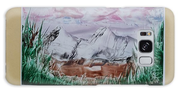 Distant Impressionistic Mountains Galaxy Case