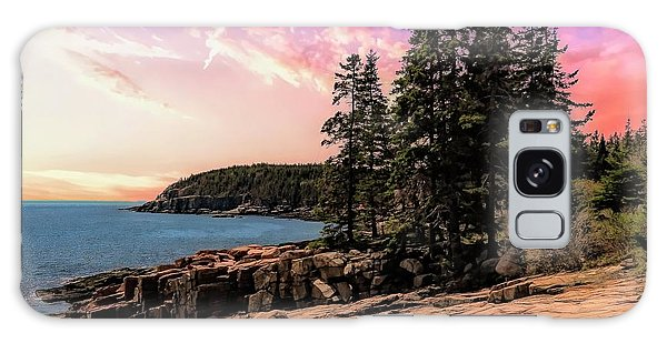Distant View Of Otter Cliffs,acadia National Park,maine. Galaxy Case
