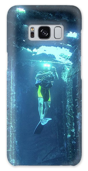 Diver In The Patris Shipwreck Galaxy Case