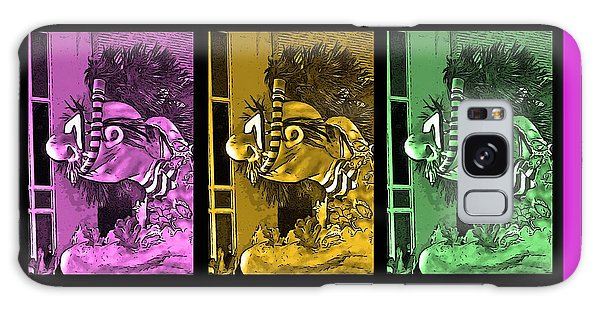Reef Diving Galaxy Case - Diving The Great Barrier Reef In Purple, Gold And Green by Marian Bell
