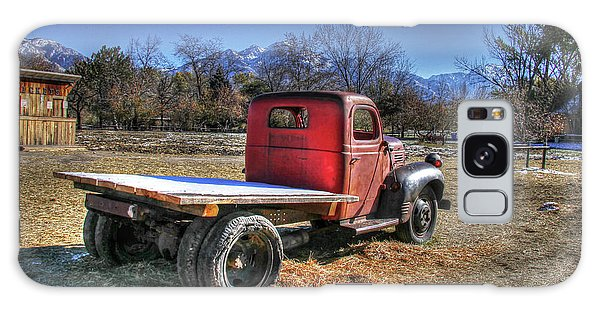 Fashion Plate Galaxy Case - Dodge Flat Bed Truck On Farm by Nick Gray