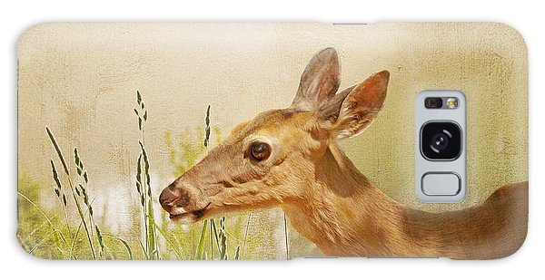 White-tailed Deer Galaxy Case - Doe At Dawn by Laura D Young