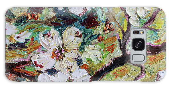 Dogwood Blossoms Oil Painting  Galaxy Case