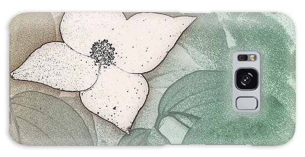 Dogwood Flower Stencil On Sandstone Galaxy Case