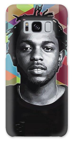 Galaxy Case featuring the painting Don't Kill My Vibe Kendrick by Carla B