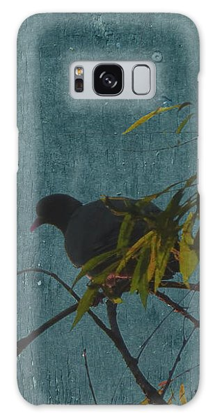 Galaxy Case featuring the photograph Dove In Blue by Attila Meszlenyi