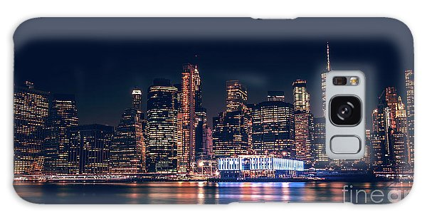 Downtown At Night Galaxy Case