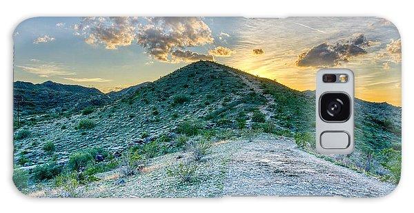 Dramatic Mountain Sunset Galaxy Case