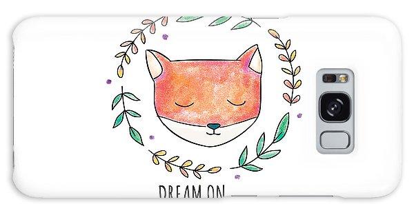Dream On - Boho Chic Ethnic Nursery Art Poster Print Galaxy Case
