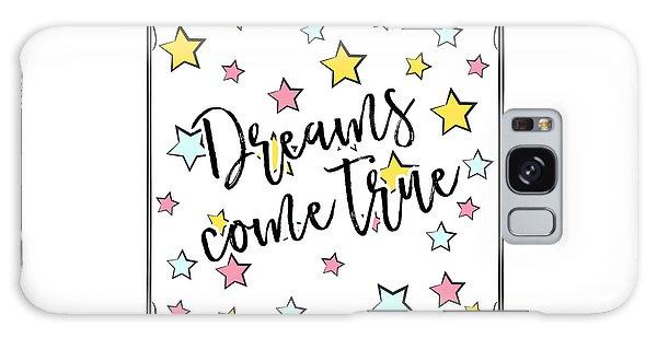 Dreams Come True - Baby Room Nursery Art Poster Print Galaxy Case