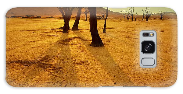 Dawn Galaxy Case - Dry Trees In Namib Desert by Galyna Andrushko