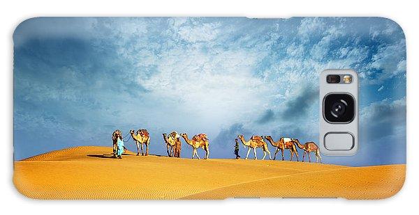 Caravan Galaxy Case - Dubai Desert Camel Safari. Arab by Banana Republic Images
