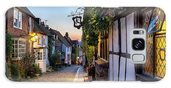 English Countryside Galaxy Case - Dusk At A Row Of Beautiful Old Houses by Helen Hotson