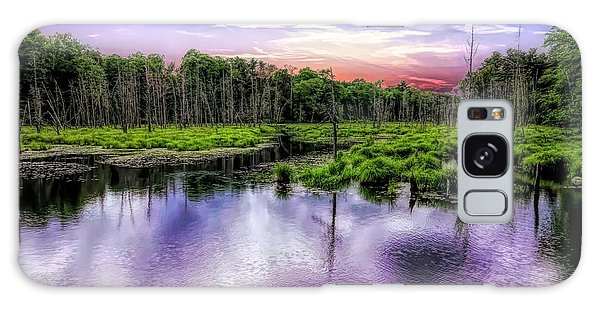 Dusk Falls Over New England Beaver Pond. Galaxy Case