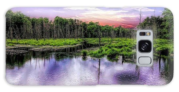 Dusk Falls Over New England Beaver Pond. Galaxy Case