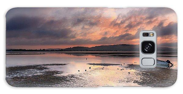 Dusky Pink Sunrise Bay Waterscape Galaxy Case