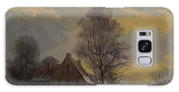 Dutch Snow Landscape Galaxy Case