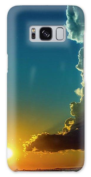 Dying Nebraska Thunderstorms At Sunset 068 Galaxy Case