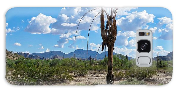 Dying Saguaro In The Desert Galaxy Case