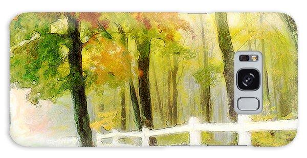 Early Autumn Morning Galaxy Case